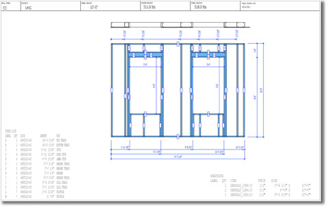 Wall Panel Elevation Drawing